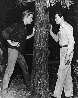 Photograph - Elvis And Elvis by American Stock Archive