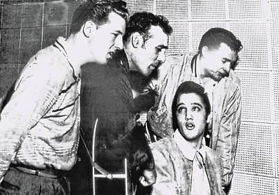 Photograph - Elvis And Friends Jamming - Memphis by Allen Beatty