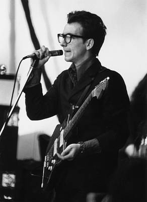 Photograph - Elvis Costello by Gary Merrin