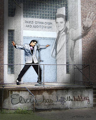 Elvis Has Left The Building Art Print