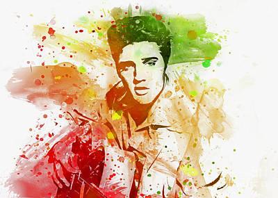 Digital Art - Elvis by Ian Mitchell