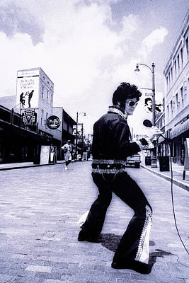 Photograph - Elvis Impersonator, Beale Street by John Coletti