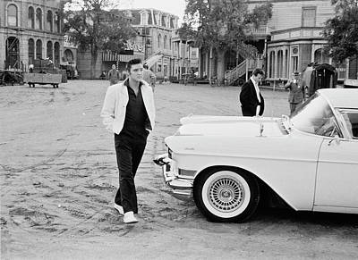 Elvis On Set Art Print by Archive Photos