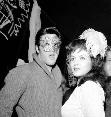 Photograph - Elvis Presley And Joan Bradshaw On by Michael Ochs Archives