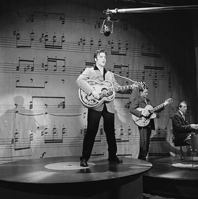 Photograph - Elvis Presley On Ed Sullivan by Michael Ochs Archives