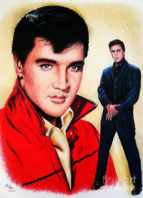 Painting - Elvis Wc Edit by Andrew Read