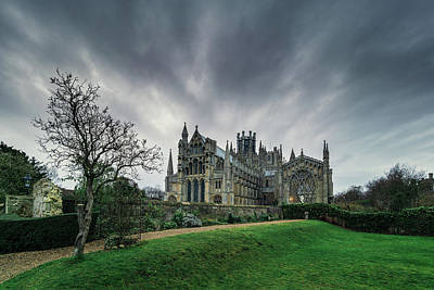 Photograph - Ely Cathedral From Almonry Gardens by James Billings