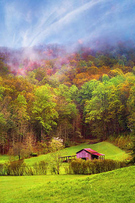 Photograph - Embraced In Autumn Mist by Debra and Dave Vanderlaan