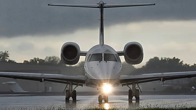 Photograph - Embraer 145 by Guy Whiteley