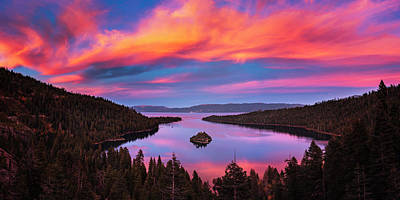 Photograph - Emerald Bay Explode by Brad Scott