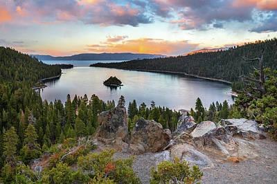 Photograph - Emerald Bay Lake Tahoe by Leland D Howard