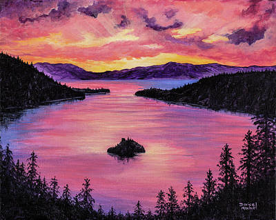Painting - Emerald Bay Sunset by Darice Machel McGuire