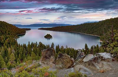 Photograph - Emerald Bay Sunset by Leland D Howard