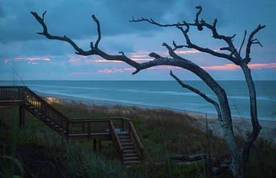Photograph - Emerald Isle Obx - Blue Hour - North Carolina Summer Beach by Mike Koenig