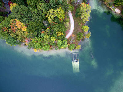 Photograph - Emerald Lake Aerial 10-121701 by Rick Veldman