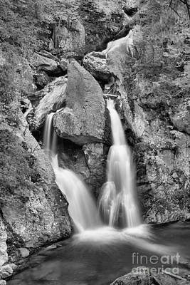 Photograph - Emerald Waters Below Bash Bish Falls Black And White by Adam Jewell