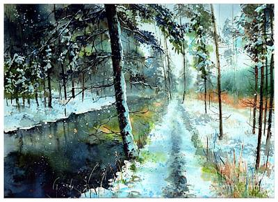 Emerald Winter Scene Original