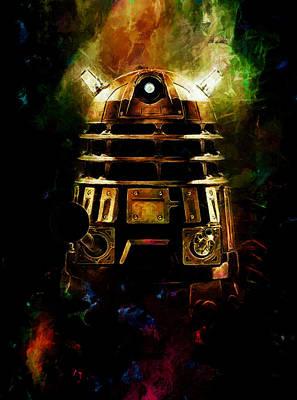 Tardis Painting - Emerging Dalek by Christopher Lane
