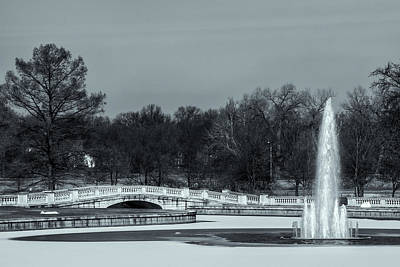 Photograph - Emerson Grand Basin Fountain And Bridge by Robert FERD Frank
