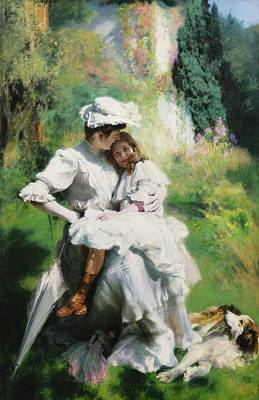 Cargo Boats Rights Managed Images - Emile Friant MATERNAL TENDERNESS Royalty-Free Image by Emile Friant