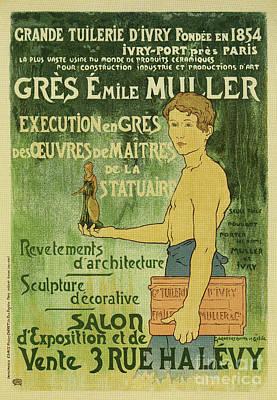 Drawing - Emile Muller Ceramist Paris by Aapshop