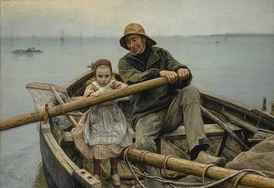 Recently Sold - Sports Paintings - Emile Renouf - The Helping Hand  1881  by Emile Levy