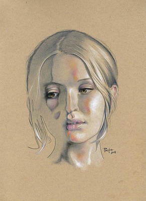 Colored Pencil Portrait Drawing - Emily by Paul Petro