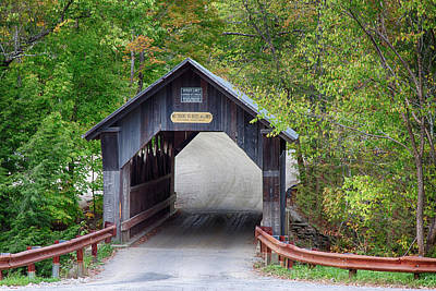 Photograph - Emily's Covered Bridge In Vermont by Jeff Folger