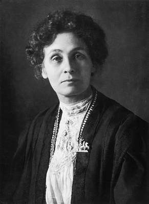 Photograph - Emmeline Pankhurst by Edward Gooch Collection