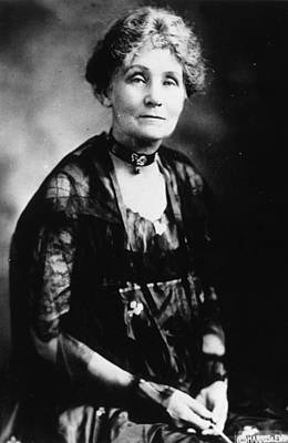 Photograph - Emmeline Pankhurst by Topical Press Agency