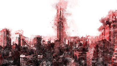 Painting - Empire State Building - 01 by Andrea Mazzocchetti