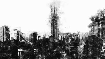 Painting - Empire State Building - 02 by Andrea Mazzocchetti