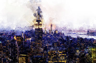 Painting - Empire State Building - 03 by Andrea Mazzocchetti