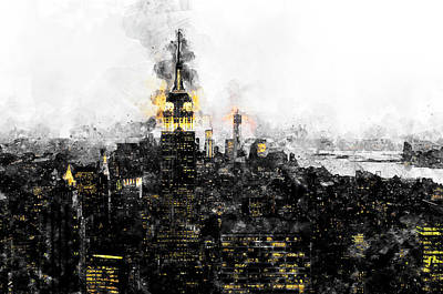 Painting - Empire State Building - 04 by Andrea Mazzocchetti