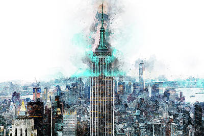 Painting - Empire State Building - 05 by Andrea Mazzocchetti