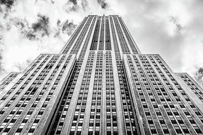 Photograph - Empire State Building, In Black And White. by Ian Robert Knight