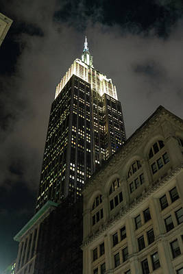 Photograph - Empire State Building Looking Up by Sharon Popek