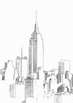 Digital Art - Empire State Building  Photographic by Michael Duva