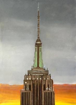 Old Masters - Empire State Building Sunrise by Leslie Dannenberg