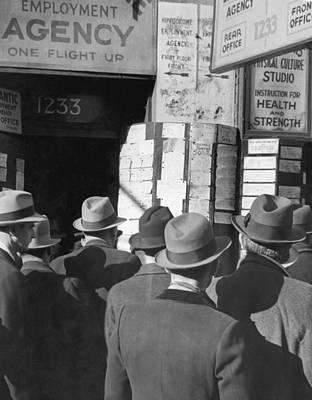 Photograph - Employment Office Durring Depression by Bettmann