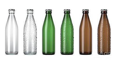 Digital Art - Empty Beer Bottle Color Range by Allan Swart