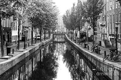 Photograph - Empty Canal Amsterdam 2014 by John Rizzuto