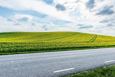 Empty Country Road Along Landscape Art Print by Jimmy Nilsson / Eyeem