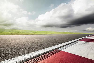 Empty Motor Racing Track Art Print by Yubo