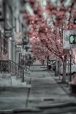 Empty Sidewalk Art Print