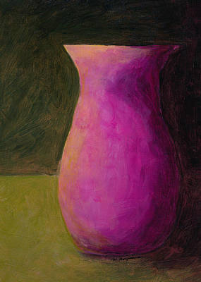 Painting - Empty Vases - Green by Mary Elizabeth Thompson
