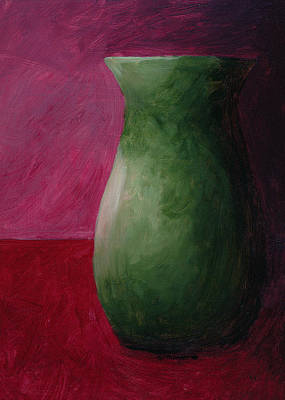 Painting - Empty Vases - Magenta by Mary Elizabeth Thompson