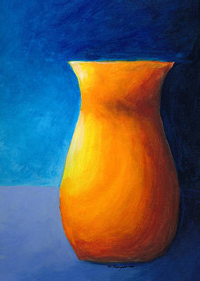 Painting - Empty Vases - Orange by Mary Elizabeth Thompson