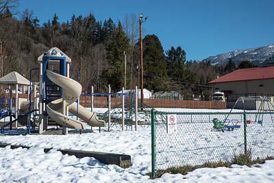 Photograph - Empty Winter Playground by Tom Cochran