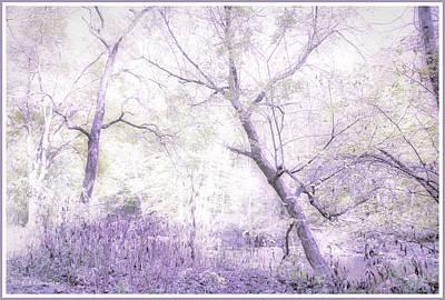 Digital Art - Enchanted Forest, Fantasy Scenic by A Gurmankin